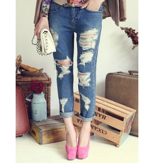 Ripped boyfriend jeans · fashion struck · online store powered by storenvy