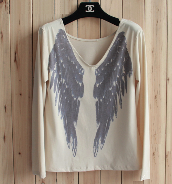 Angel Wings Print T-Shirt