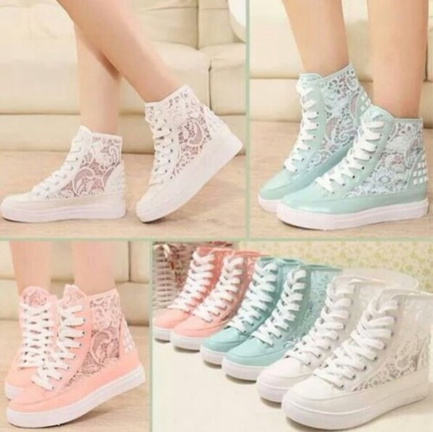 shoes lace sneakers pastel pastel sneakers flats