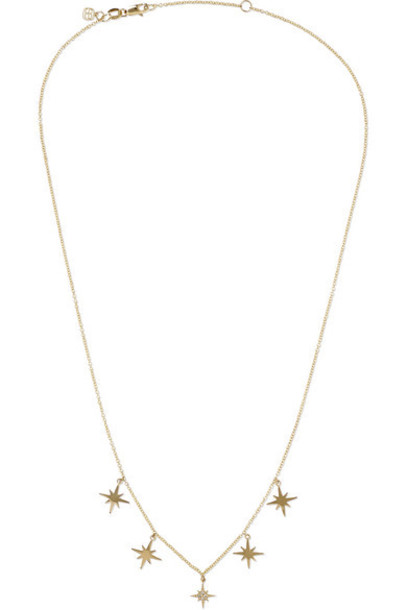 Sydney Evan - Starburst 14-karat Gold Diamond Necklace