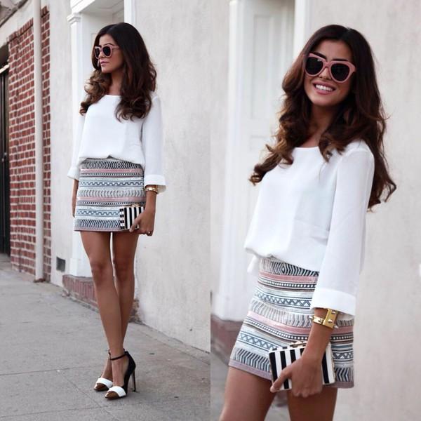 clothes bag skirt shoes