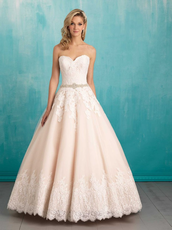 Wishesbridal Sweetheart Court Train Satin #BallGown #WeddingDress ...