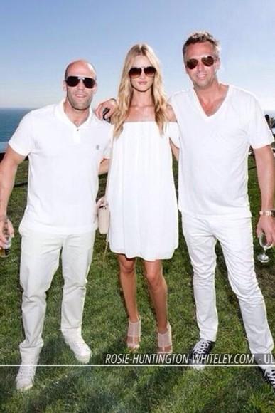 dress rosie huntington-whiteley white dress summer outfits