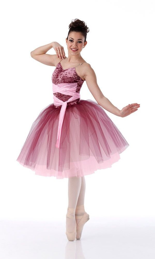 bd0f9f17651f BELLA ROSA Romantic Ballet Ballerina Tutu Dress Dance Costume ...