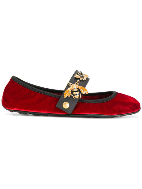 women bee leather cotton velvet red shoes