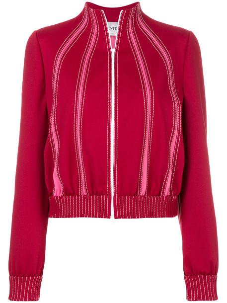 Valentino jacket bomber jacket women spandex red
