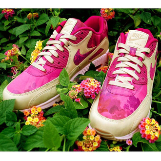 shoes air amx 90 pink pink pink shoes nike air max 90 floral