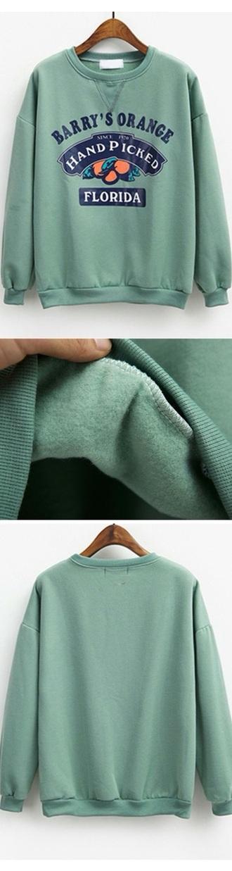 sweater green mint green sweater