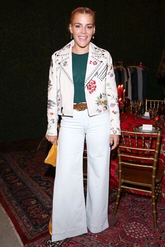 jacket busy philipps pants top belt fall outfits celebrity style
