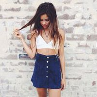 Button Up Skirt - Shop for Button Up Skirt on Wheretoget