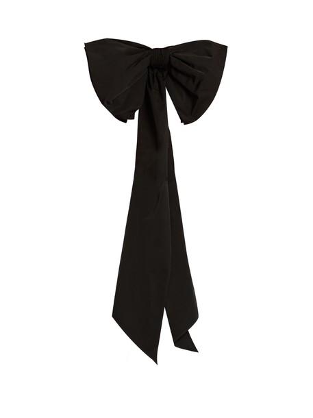 DOVIMA PARIS bow embellished belt black