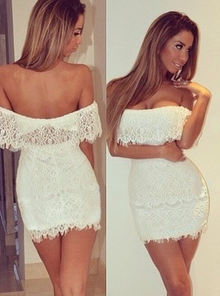 Cocktail Lace Mini Dress - Juicy Wardrobe