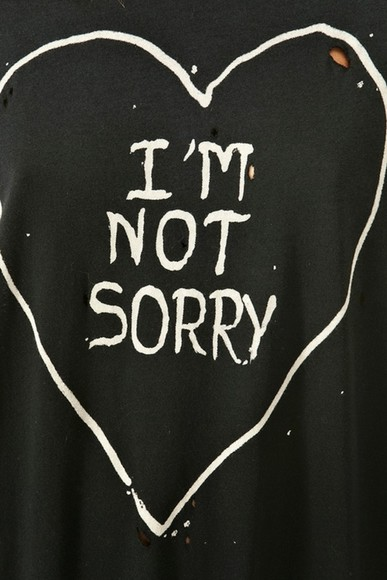 hearts i'm not sorry ripped tee grunge kylie jenner shirt im not sorry heart i'm not sorry black