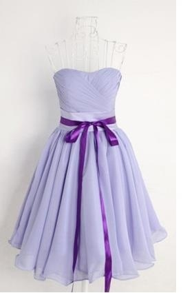 2015 newest chiffon purple sweetheart empire dress homecoming dress prom dress cocktail dress/hd055