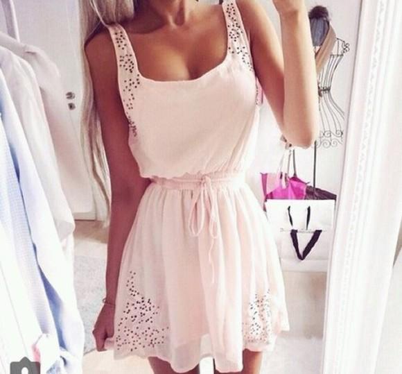 dress pink dress cute dress pink cute summer dress pink