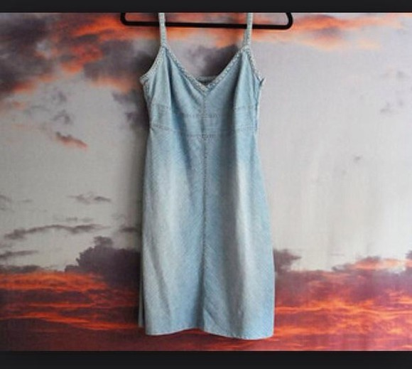 denim dress light blue short