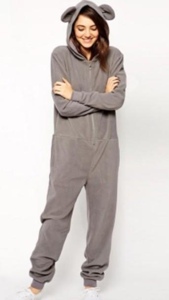c2cc7cda8524 pajamas comfy pajamas onesie pajama gray hoodie costume