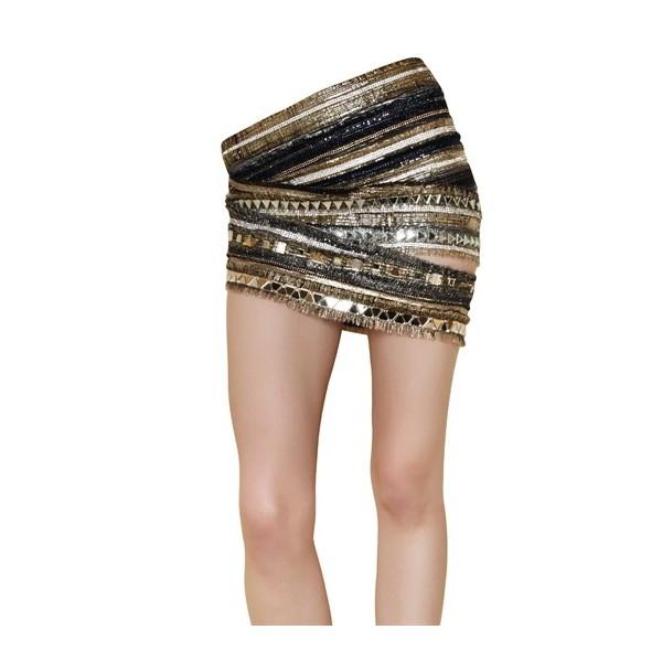 Balmain Embroidered Silk Chiffon Skirt