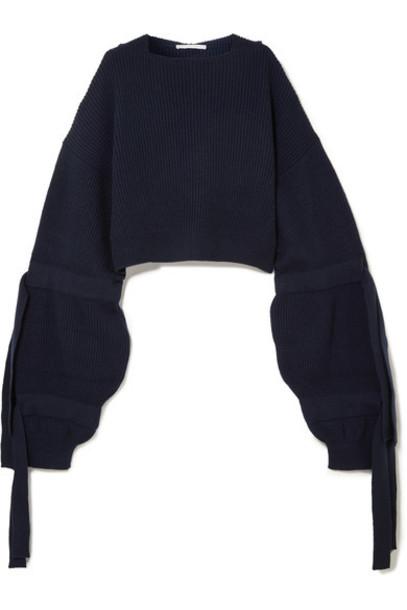 Stella McCartney sweater cropped blue