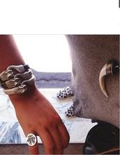 jewels,snake bracelet,ring,necklace,horn necklace