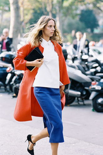 vanessa jackman blogger skirt coat shirt