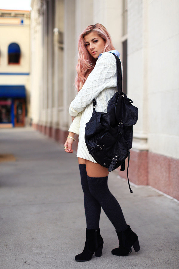 Grainy Faux Leather Pocket Backpack - Bags & Purses - Bags ...