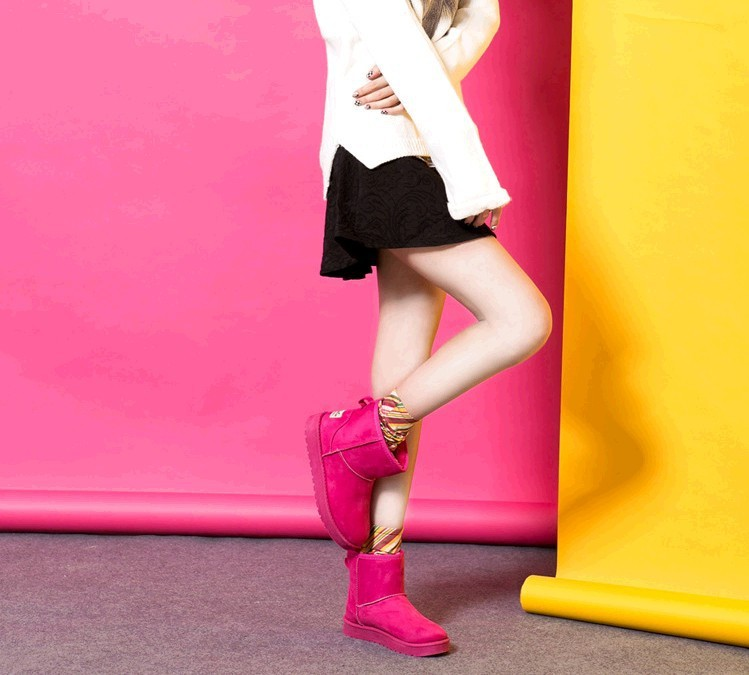 free shipping The new classic short boots in winter snow boots fashion Pure color design-in Boots from Shoes on Aliexpress.com