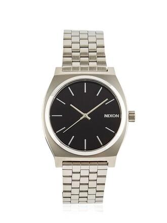 watch silver black jewels