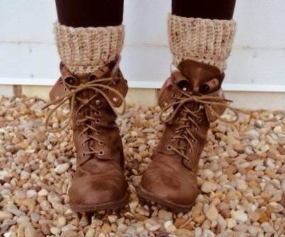 shoes brown leather brown combat boots