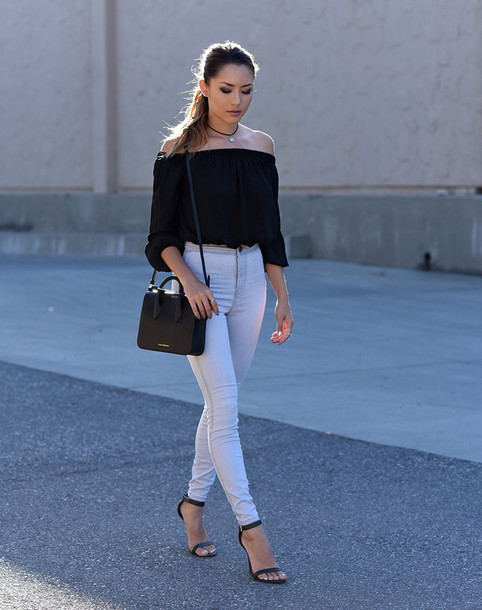 hapa time blogger top bag shoes jewels