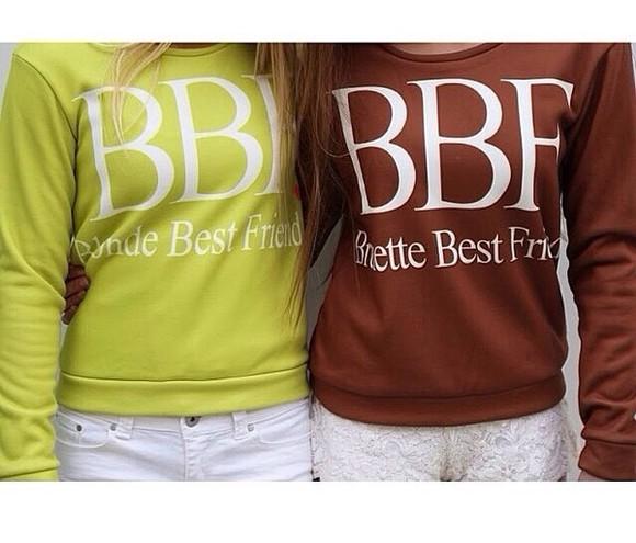 sweater cute bestfriends please help. bbf