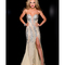 Sale! jasz couture 2013 prom - strapless nude & silver sexy rhinestoned prom gown - unique vintage - prom dresses, retro dresses, retro swimsuits.