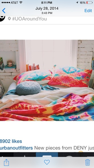 home accessory bedding tie dye