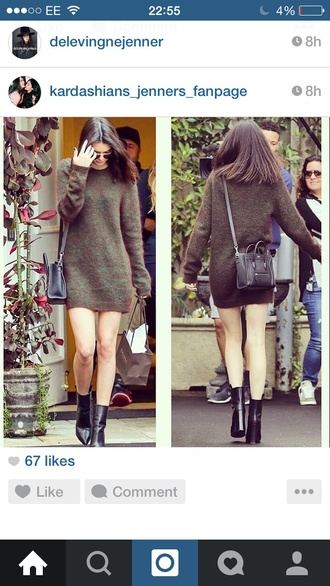 shoes kendall jenner black boots boots heels leather boots kendall and kylie jenner cardigan