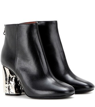 leather ankle boots embellished boots ankle boots leather black shoes