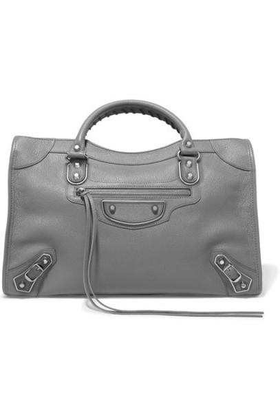 Balenciaga metallic leather bag