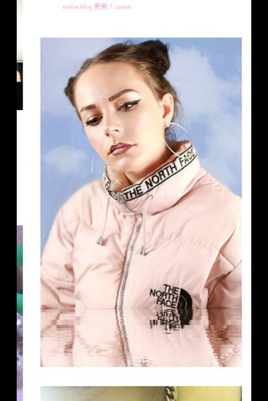 pink jacket northface