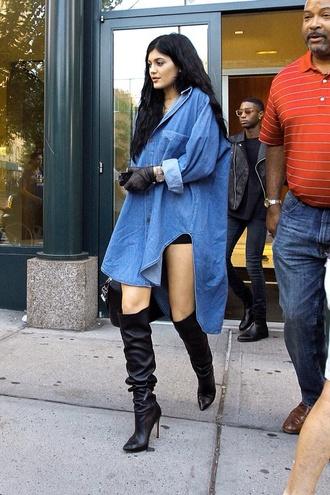 blouse jeans kylie jenner oversized shoes