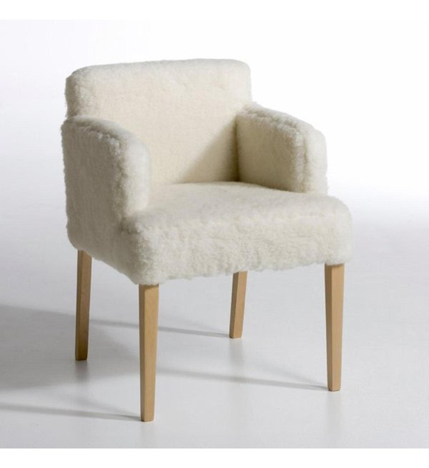 am pm fauteuil yeti fourrure effet mouton am pm en blanc galeries lafayette. Black Bedroom Furniture Sets. Home Design Ideas