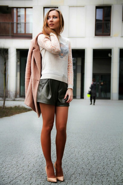 dream love shop blogger coat sweater shorts shoes