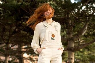 garance dore blogger shirt top jeans belt jacket skirt dress overalls