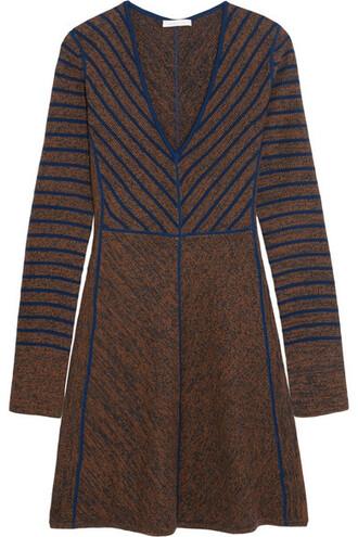 dress mini dress mini wool brown