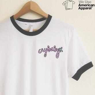 shirt melanie martinez crybaby american apparel etsy etsey.com white t-shirt