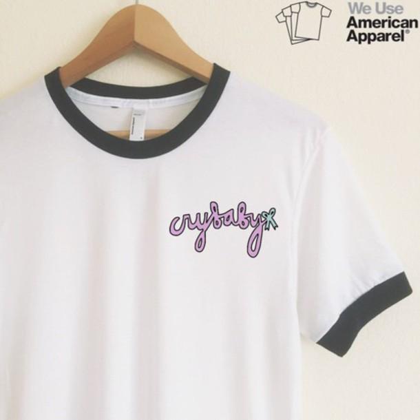 shirt melanie martinez crybaby american apparel etsy