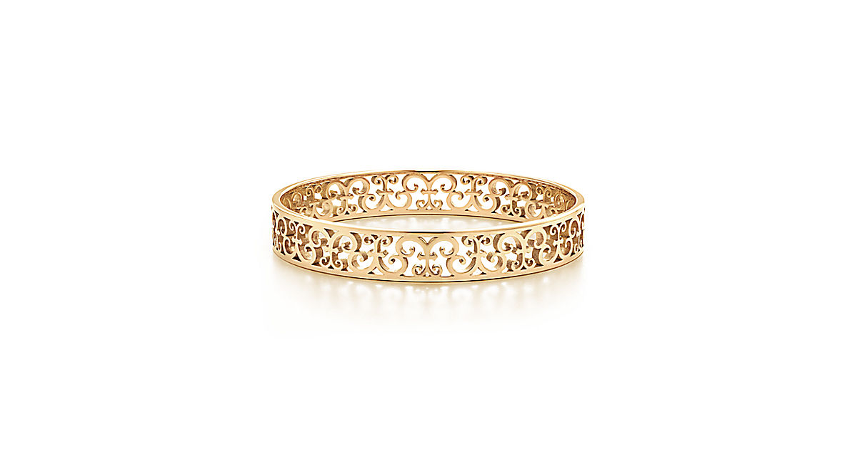 étroit bracelet jonc tiffany enchant™ en or. medium.