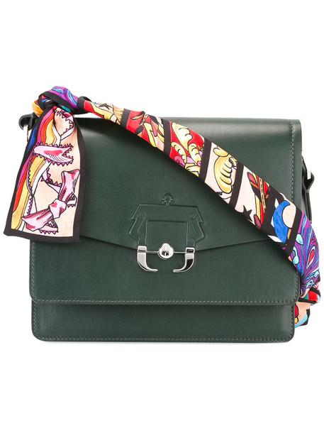 women bag shoulder bag leather green