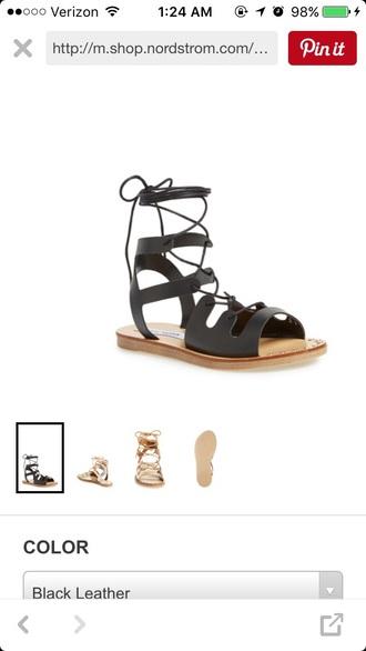 shoes steve madden sandals laces