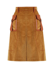 skirt,leather,cotton,light,brown