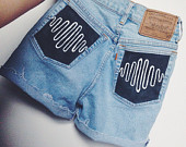 AM high waisted shorts- Made To Order