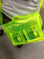 bag,neon green,neon,green,transparent,translucent,satchel bag